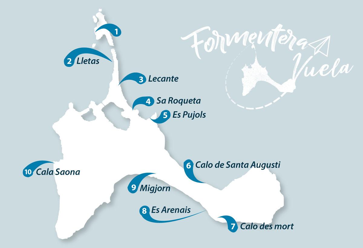 Cartina Geografica Spagna E Formentera.Le Spiagge Piu Belle Dell Isola Di Formentera Guida Completa